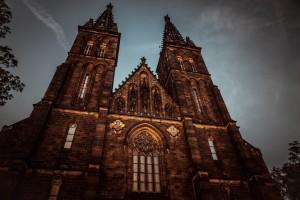 Prague  - Kapitulní chrám sv. Petra a Pavla na pražském Vyšehradě