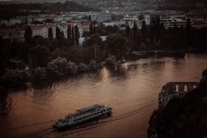 Vltava. Вид на Влтаву из Вышеграда